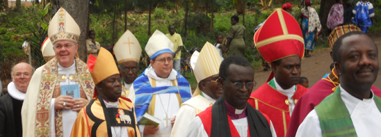Bishop procession in Tanzania